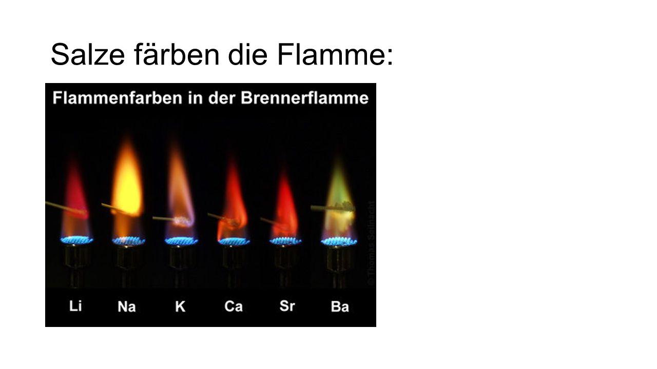 Salze färben die Flamme: