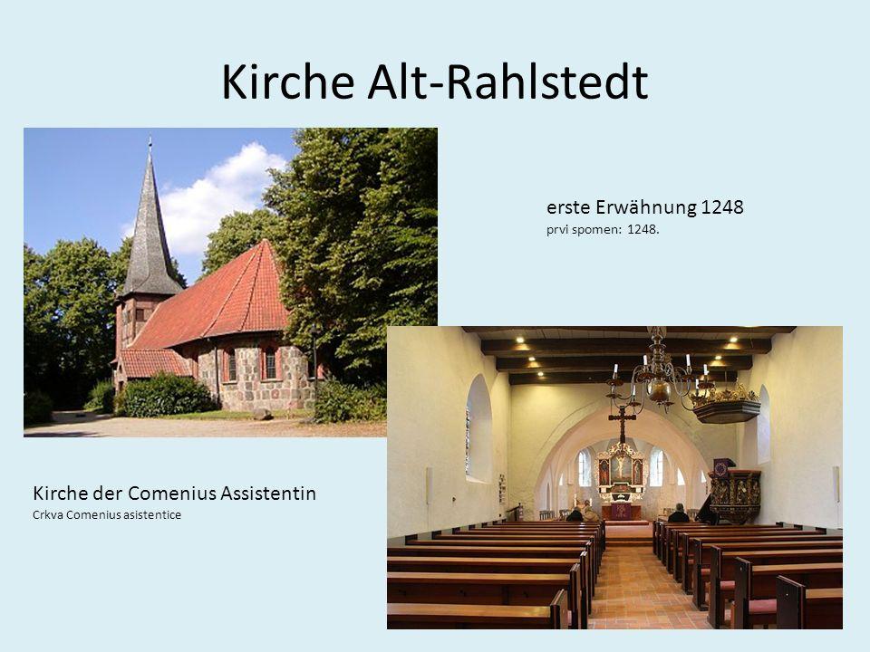 Kirche Alt-Rahlstedt erste Erwähnung 1248 prvi spomen: 1248.