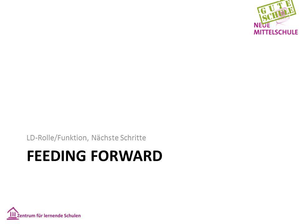 FEEDING FORWARD LD-Rolle/Funktion, Nächste Schritte