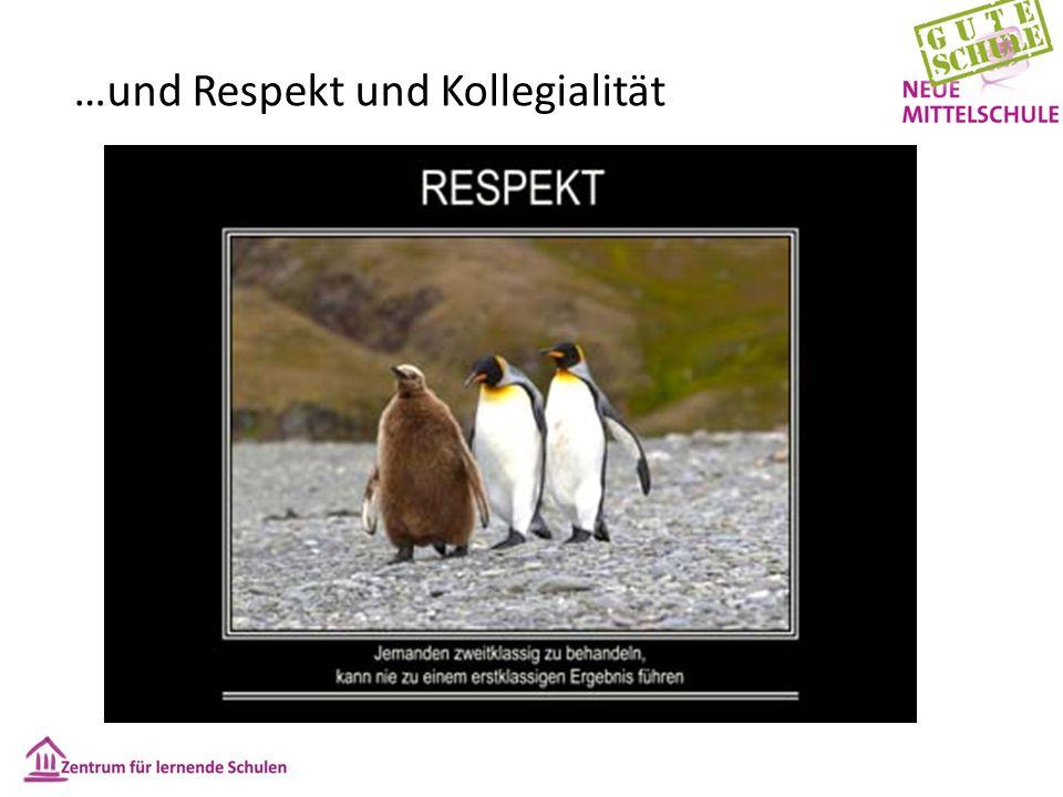 …und Respekt und Kollegialität