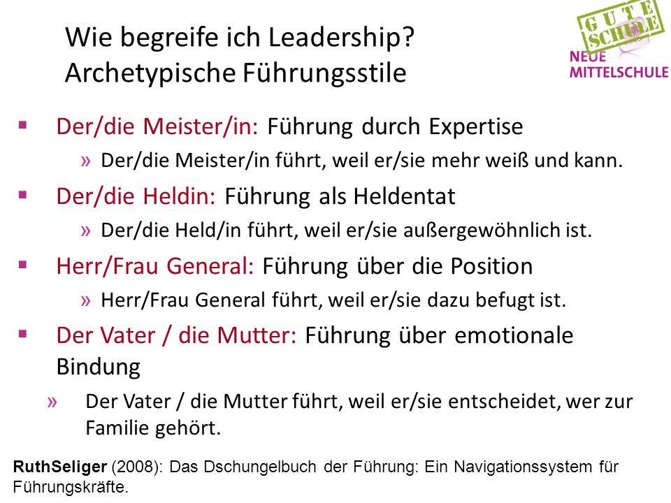 Wie begreife ich Leadership.