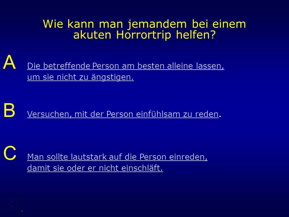 - Was versteht man unter einem Horror-Trip.
