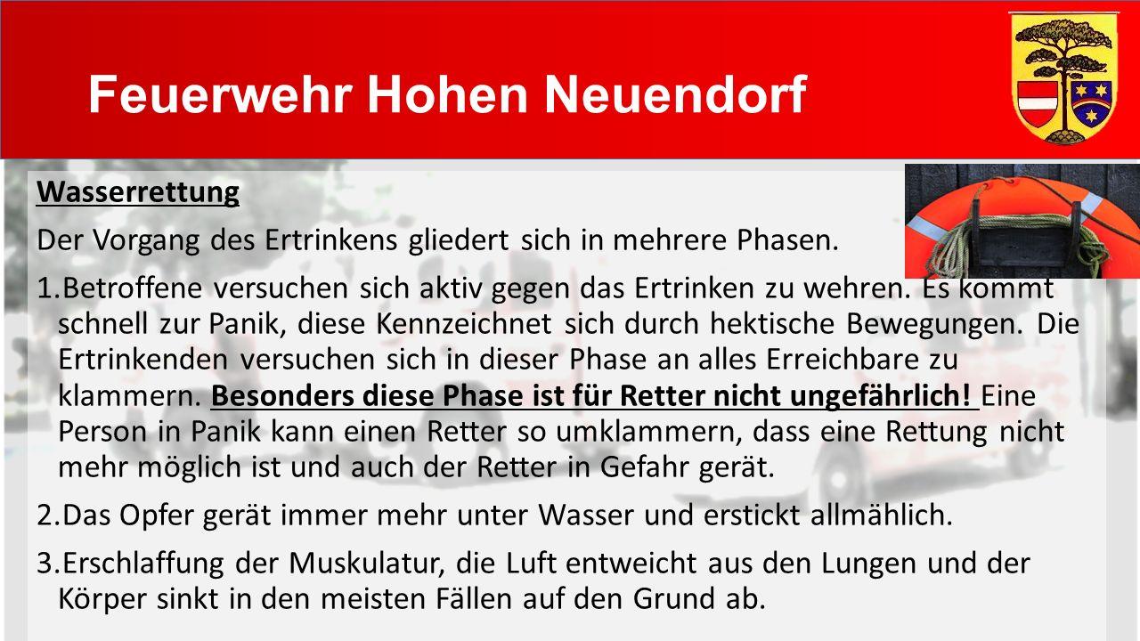 Feuerwehr Hohen Neuendorf Wasserrettung Der Vorgang des Ertrinkens gliedert sich in mehrere Phasen.