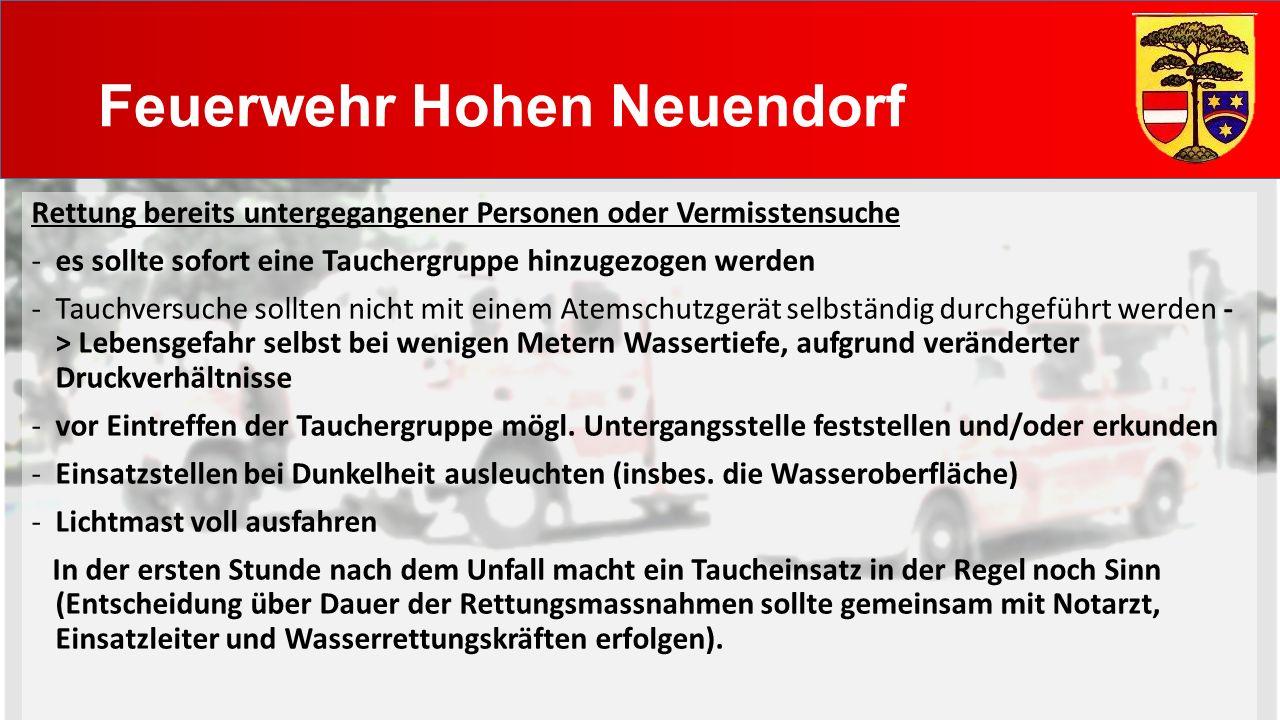Feuerwehr Hohen Neuendorf Ertrinkungsunfall in einem See -keine Strömung im See -mögl.