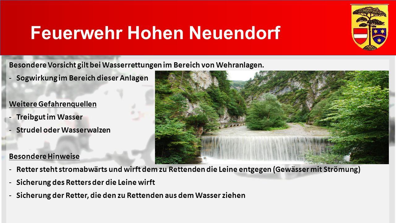 Feuerwehr Hohen Neuendorf Besondere Vorsicht gilt bei Wasserrettungen im Bereich von Wehranlagen.
