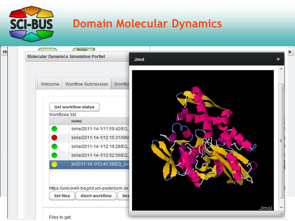 Domain Molecular Dynamics