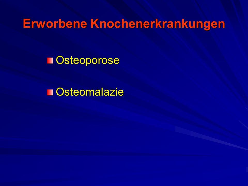 Osteoporose Symptome –Abnahme der Körpergröße –Buckelbildung –Vorwölbung des Bauches –Verstärkte Muskeler- müdung