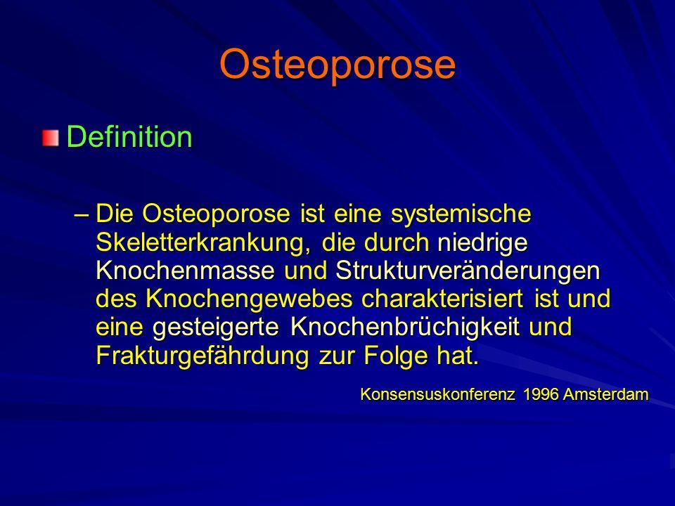Osteoporose Normale KnochentexturOsteoporotische Knochenausdünnung