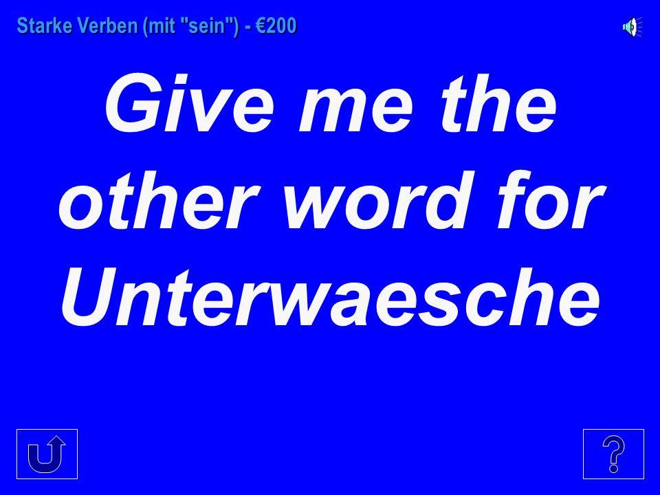 Starke Verben (mit sein ) - €100 To buy