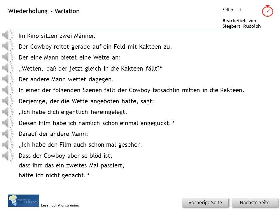 Übungsart: Seite: Bearbeitet von: Siegbert Rudolph Lesemotivationstraining 3 Hauptteil – Witz in Silben Nächste Seite Vorherige Seite ZweiMännersitzenimKino.
