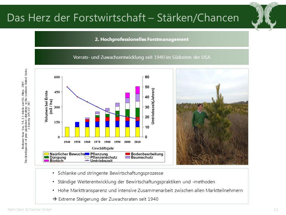 Das Herz der Forstwirtschaft – Stärken/Chancen Salm-Salm & Partner GmbH12 2.