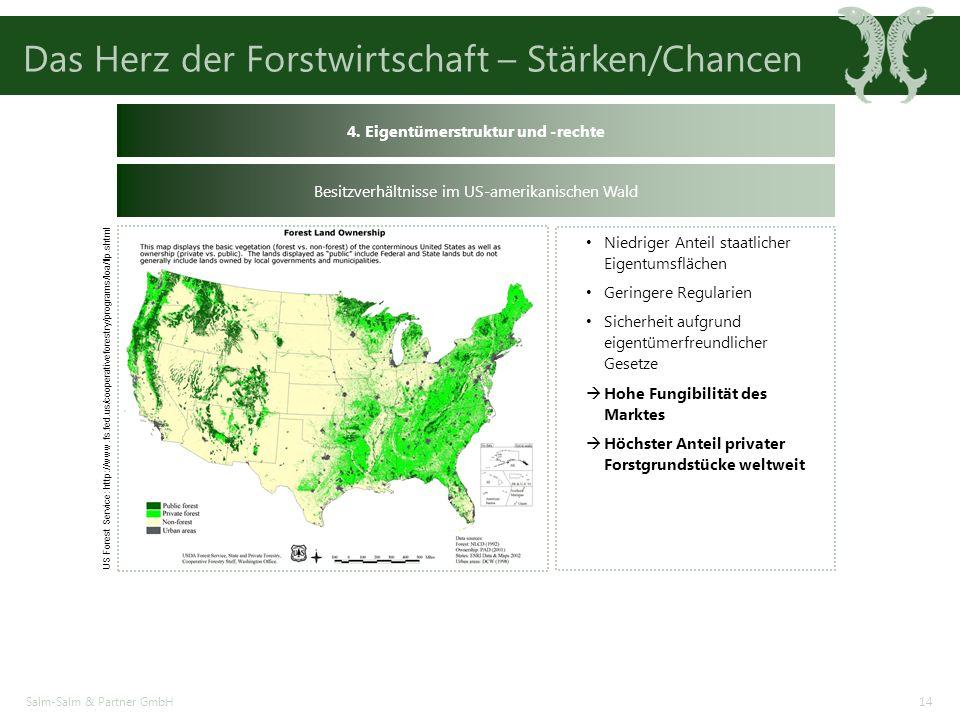 Das Herz der Forstwirtschaft – Stärken/Chancen Salm-Salm & Partner GmbH14 US Forest Service: http://www.fs.fed.us/cooperativeforestry/programs/loa/flp.shtml 4.