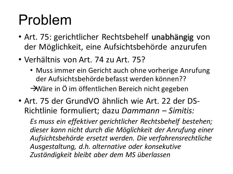 Problem unabhängig Art.