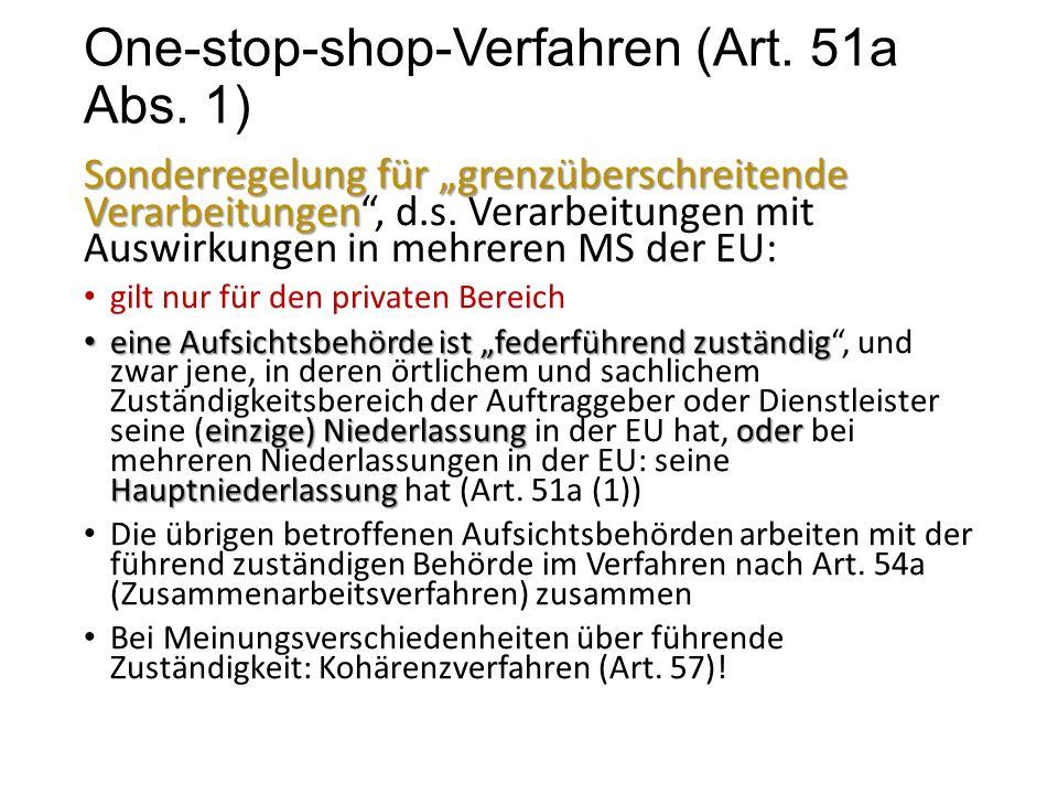 One-stop-shop-Verfahren (Art. 51a Abs.
