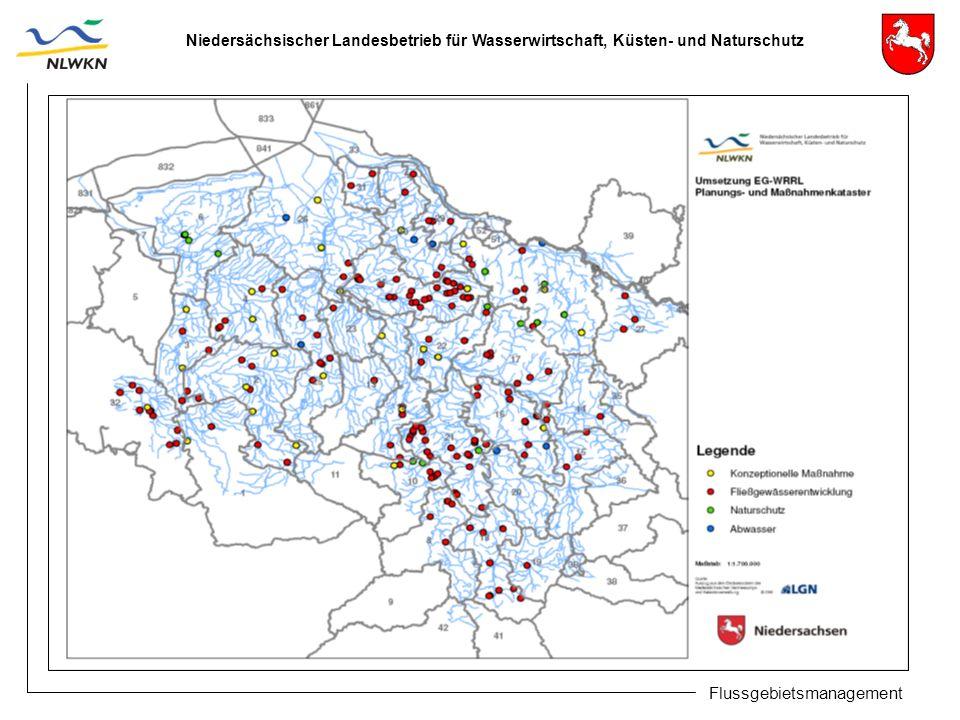 Niedersächsischer Landesbetrieb für Wasserwirtschaft, Küsten- und Naturschutz Flussgebietsmanagement