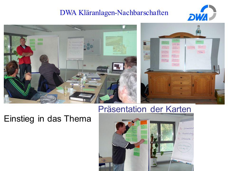 DWA Kläranlagen-Nachbarschaften Präsentation der Karten Einstieg in das Thema