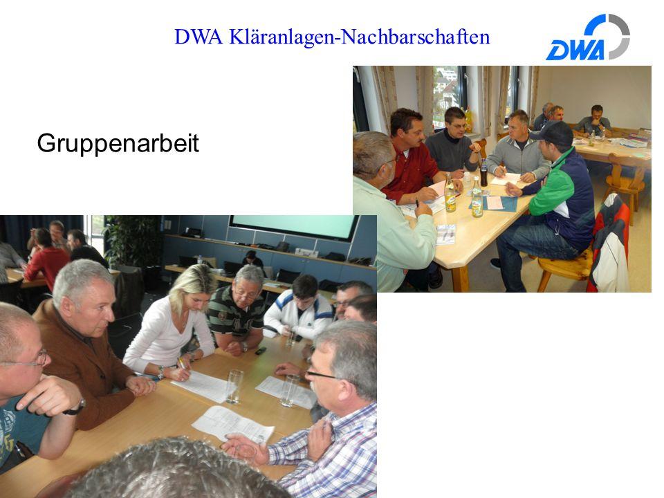 DWA Kläranlagen-Nachbarschaften Gruppenarbeit