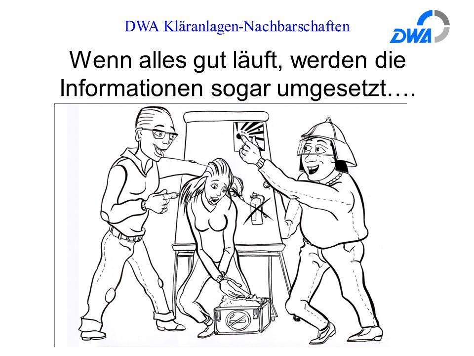 DWA Kläranlagen-Nachbarschaften Wenn alles gut läuft, werden die Informationen sogar umgesetzt….