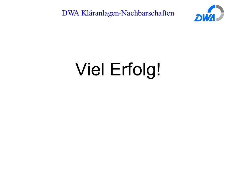 DWA Kläranlagen-Nachbarschaften Viel Erfolg!