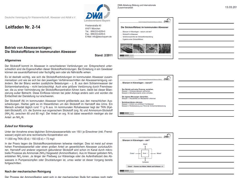 DWA Kläranlagen-Nachbarschaften