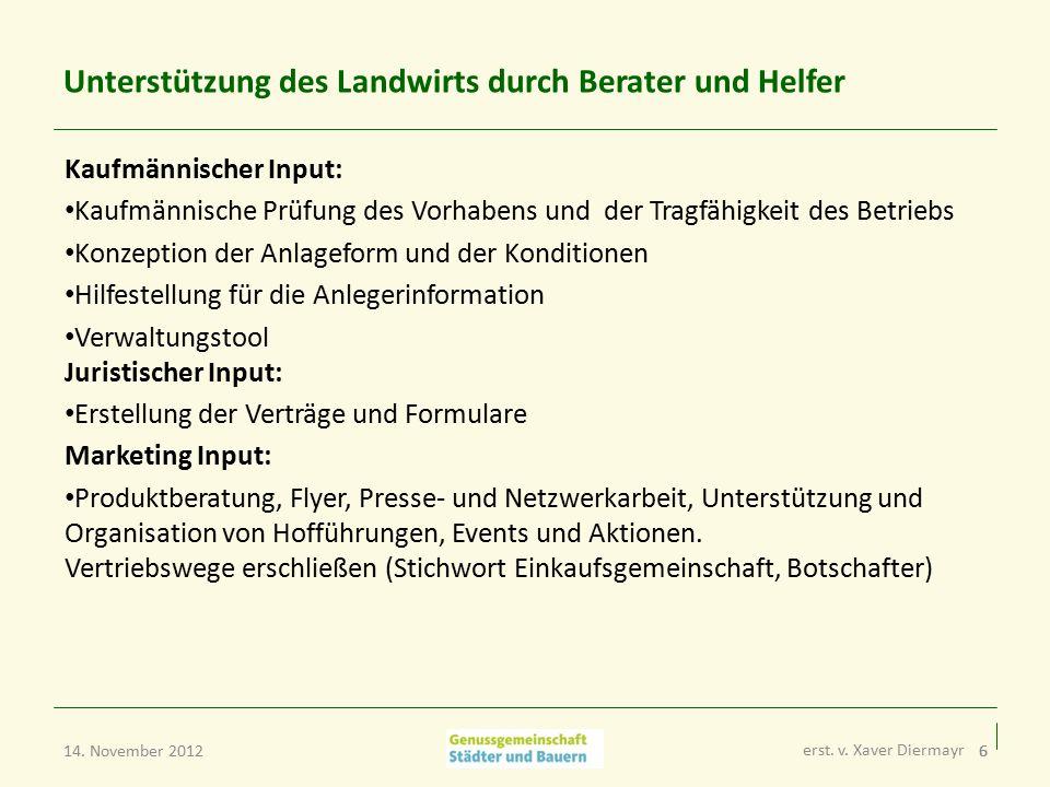 7 Beispiel: Käserei im Leitzachtaler Ziegenhof Auf einen Blick: Bau einer Hofkäserei mittels Genussrechten Investitionsvolumen: 99 T€ Stückelung: 500 € Zins 5%, Laufzeit: mind.