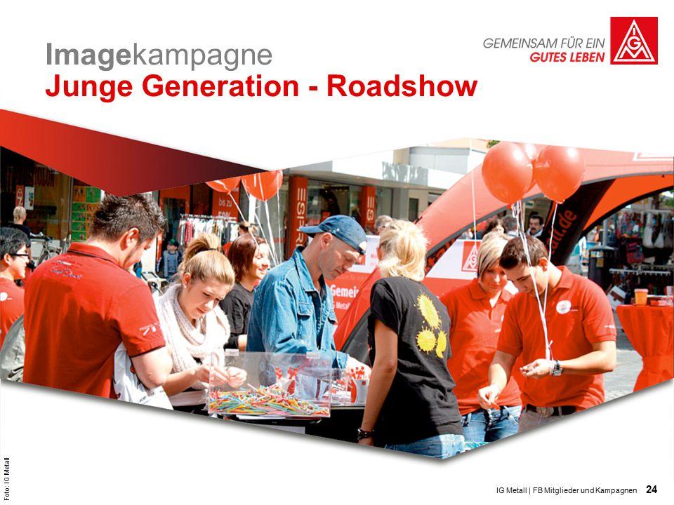 24 Imagekampagne Junge Generation - Roadshow IG Metall | FB Mitglieder und Kampagnen Foto: IG Metall