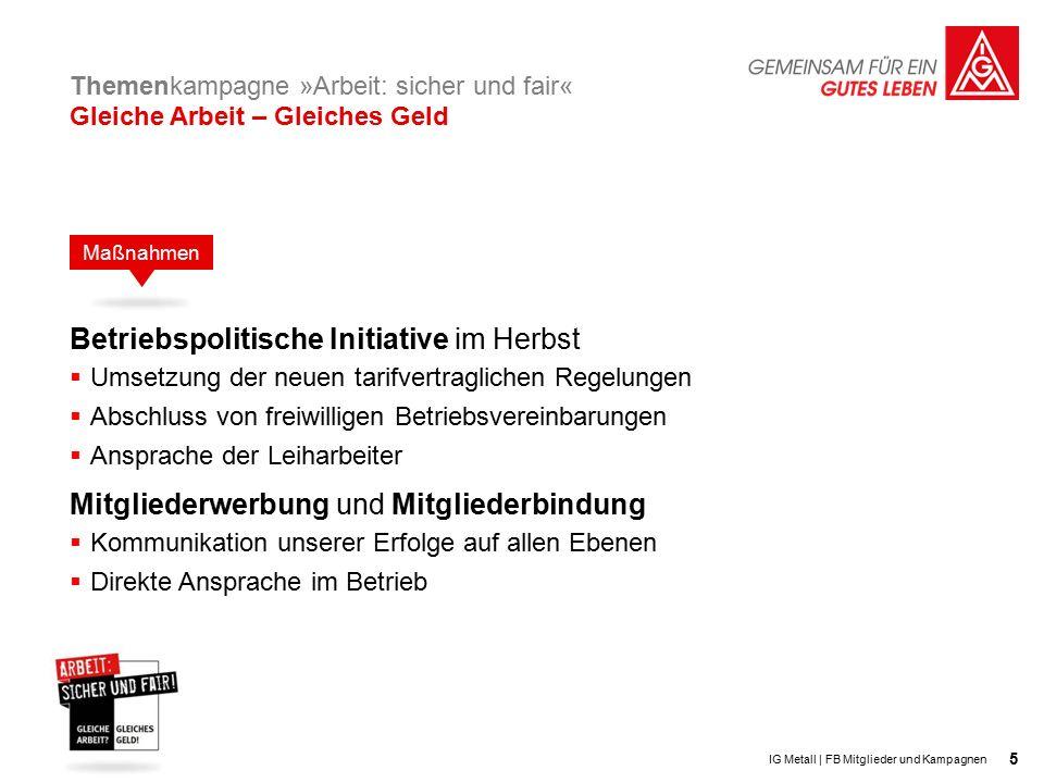 16 IG Metall   FB Mitglieder und Kampagne Fotos: F1online / Fstop Corbis / Tom Grill photothek.net / Liesa Johannssen