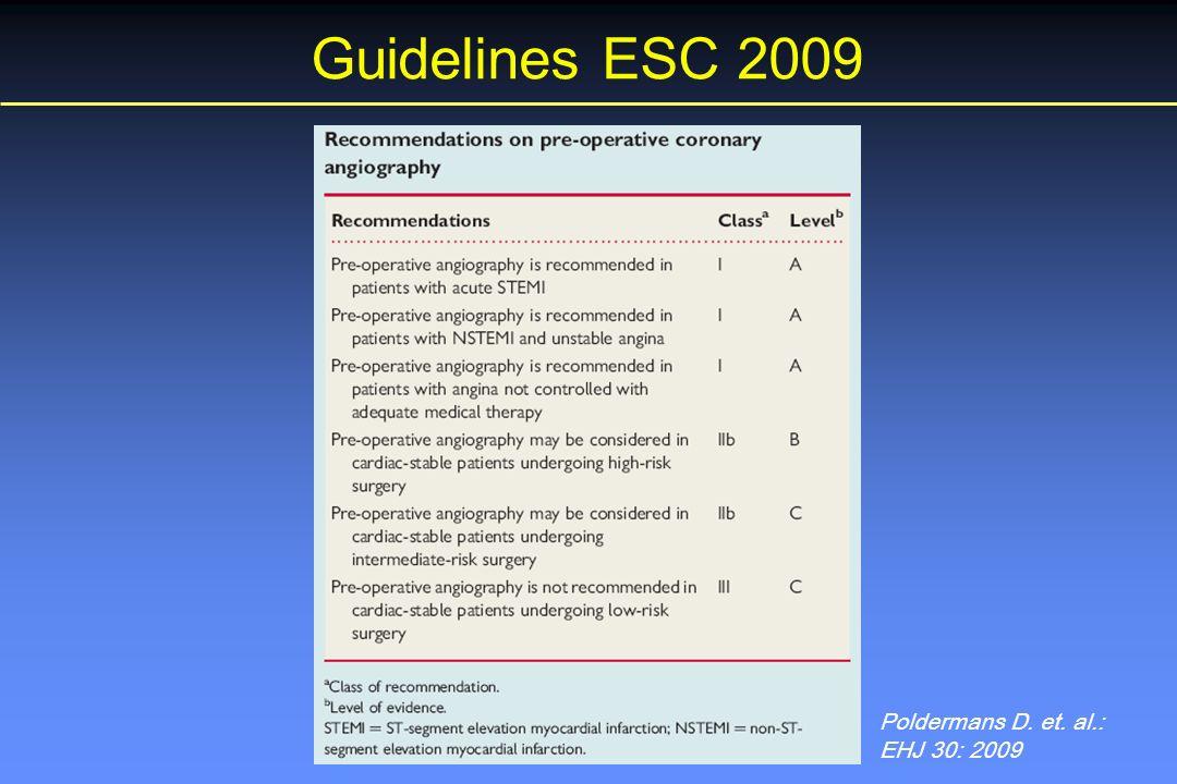 Poldermans D. et. al.: EHJ 30: 2009 Guidelines ESC 2009