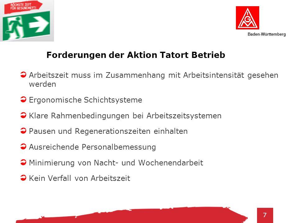 Baden-Württemberg 8 Aktivitäten Infos bei Delegiertenversammlungen usw.
