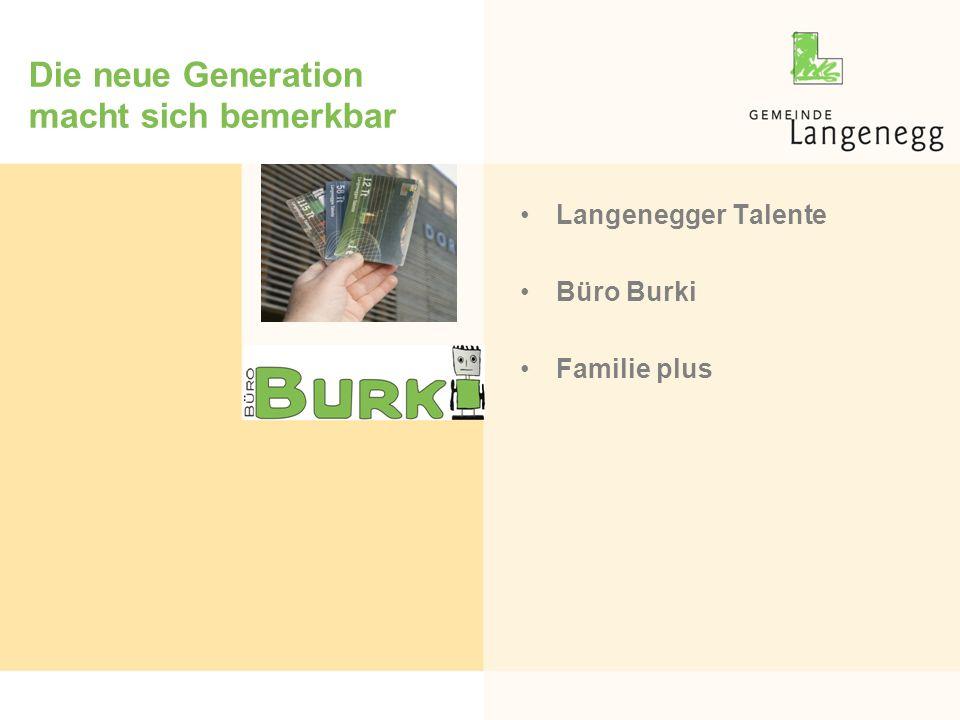 Die neue Generation macht sich bemerkbar Langenegger Talente Büro Burki Familie plus