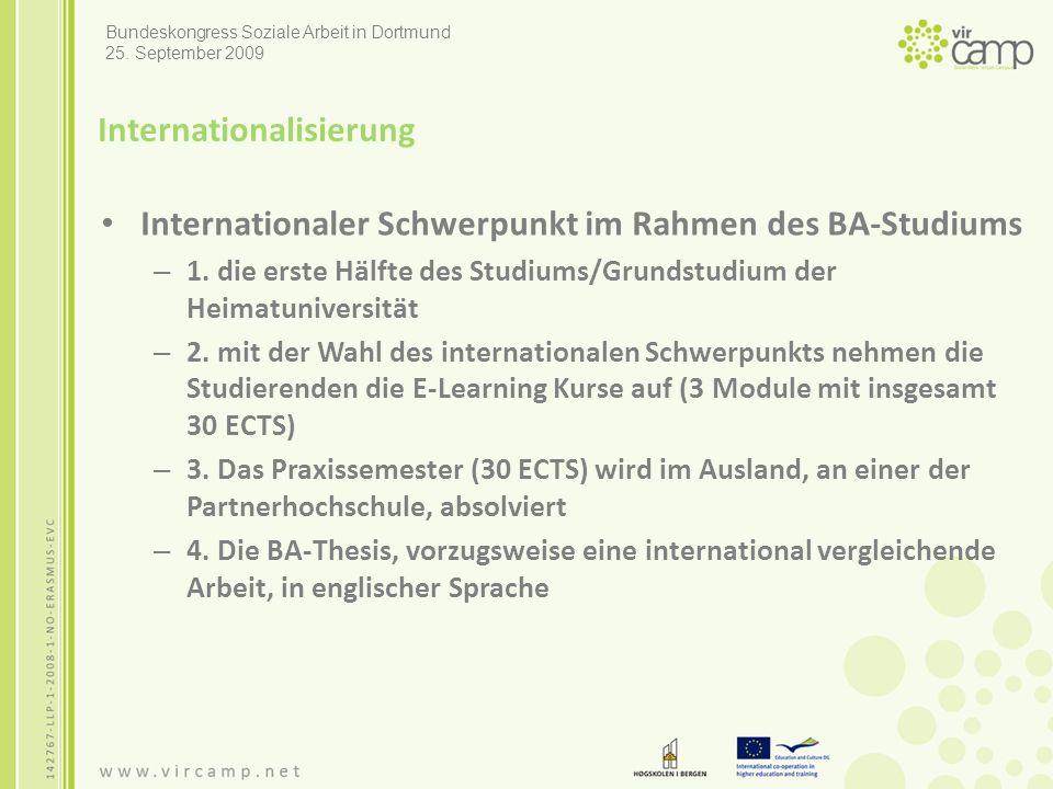 Internationalisierung Internationaler Schwerpunkt im Rahmen des BA-Studiums – 1.