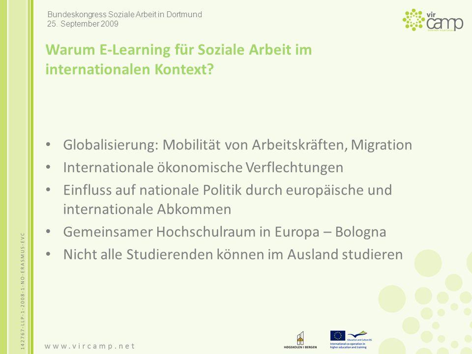 Warum E-Learning für Soziale Arbeit im internationalen Kontext.