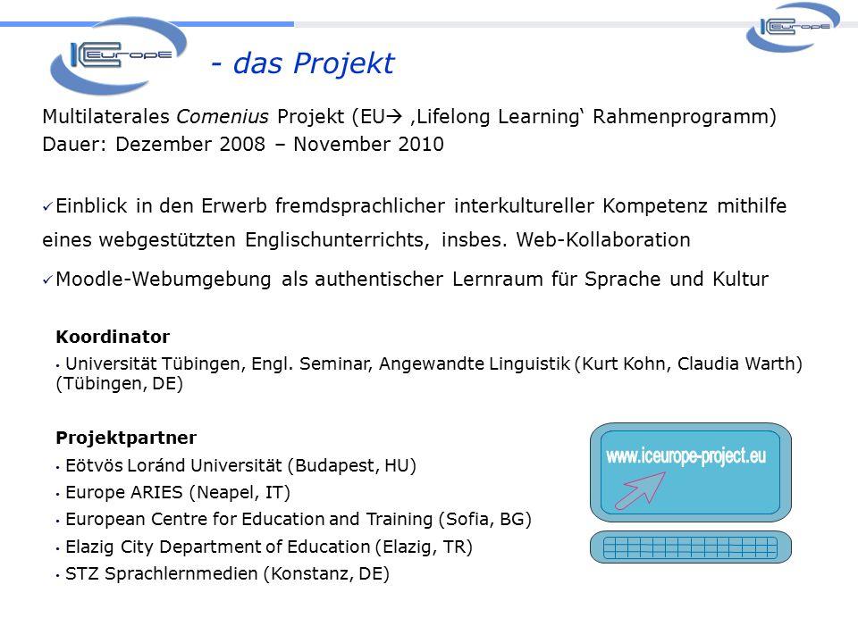 - das Projekt Koordinator Universität Tübingen, Engl.