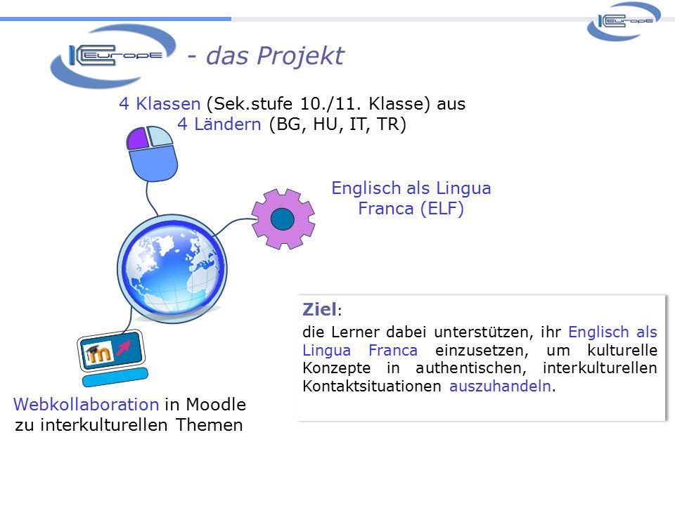 Webkollaboration in Moodle zu interkulturellen Themen 4 Klassen (Sek.stufe 10./11.