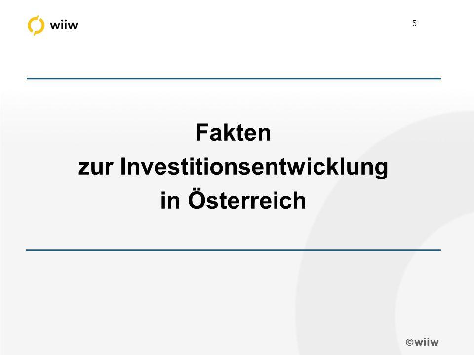  wiiw 5 Fakten zur Investitionsentwicklung in Österreich