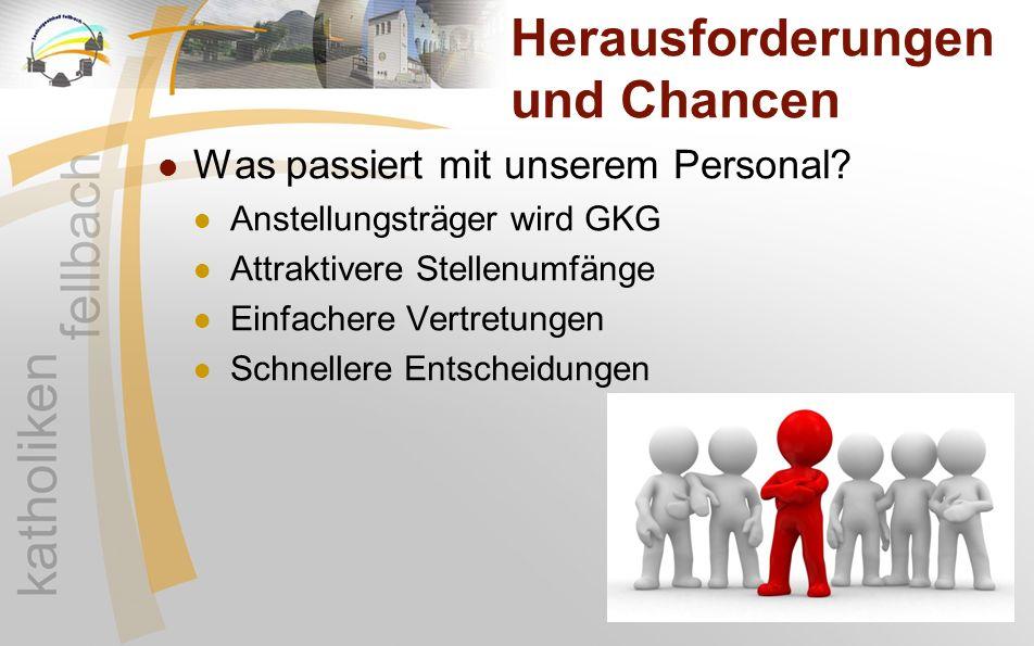 Herausforderungen und Chancen Was passiert mit unserem Personal? Anstellungsträger wird GKG Attraktivere Stellenumfänge Einfachere Vertretungen Schnel