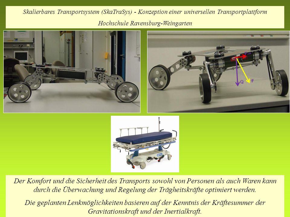 Der Komfort und die Sicherheit des Transports sowohl von Personen als auch Waren kann durch die Überwachung und Regelung der Trägheitskräfte optimiert werden.