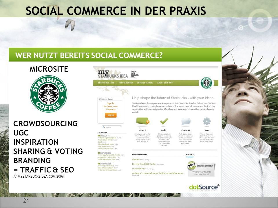 21 WER NUTZT BEREITS SOCIAL COMMERCE.