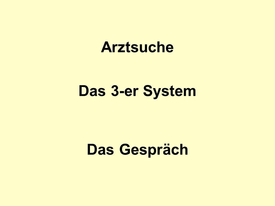 Arztsuche Das 3-er System Das Gespräch