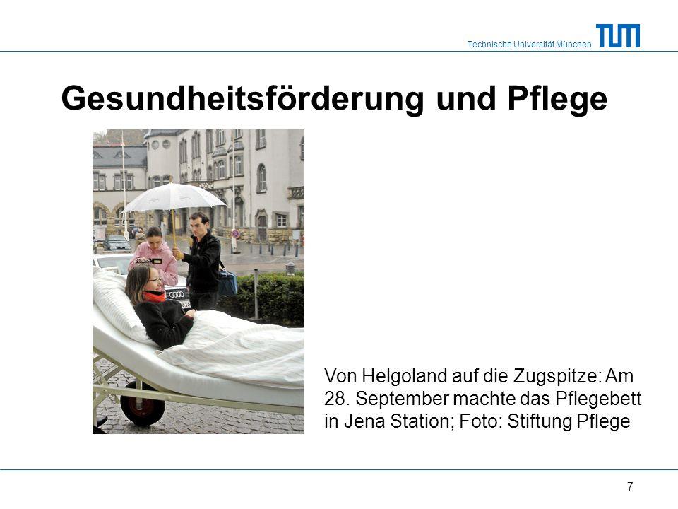 Technische Universität München Gesundheitsförderung und Pflege 7 Von Helgoland auf die Zugspitze: Am 28.