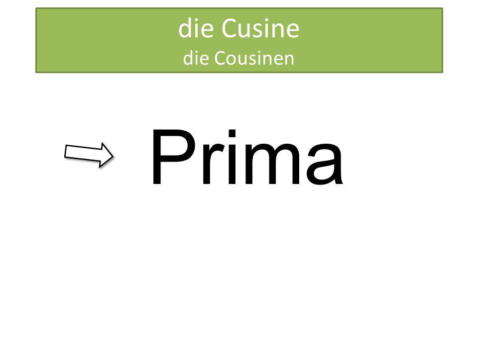 HERMANA die Cusine die Cousinen Prima