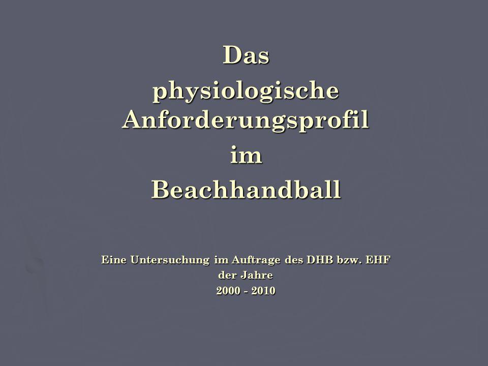 Das physiologische Anforderungsprofil imBeachhandball Eine Untersuchung im Auftrage des DHB bzw.
