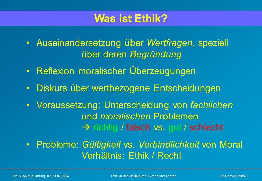 Was ist Ethik.