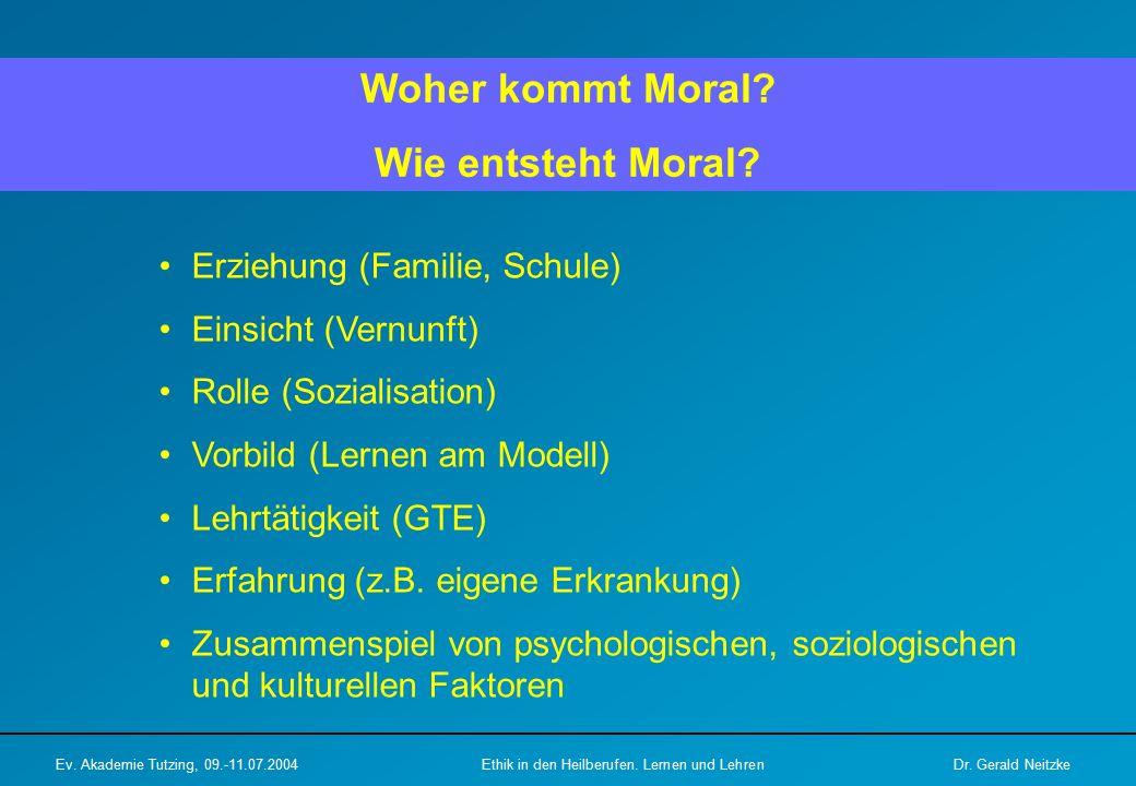 Woher kommt Moral.Wie entsteht Moral.