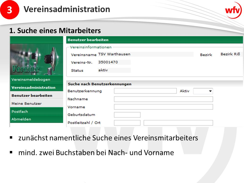 3 Vereinsadministration 1.