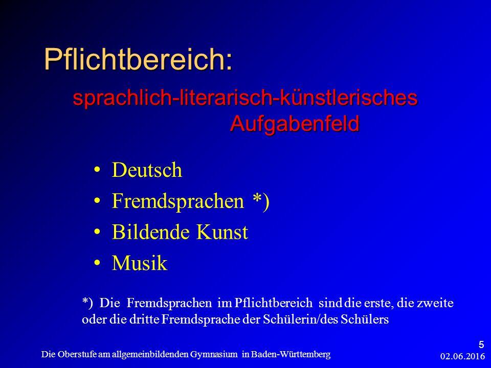 02.06.2016 Die Oberstufe am allgemeinbildenden Gymnasium in Baden-Württemberg 26 Gesamtqualifikation - 2 Block I max.