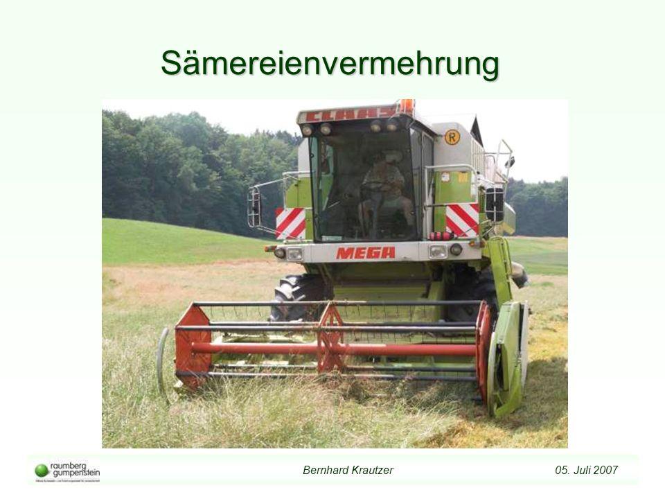 Bernhard Krautzer 05. Juli 2007 Sämereienvermehrung