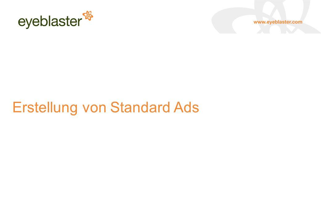 Erstellung von Standard Ads