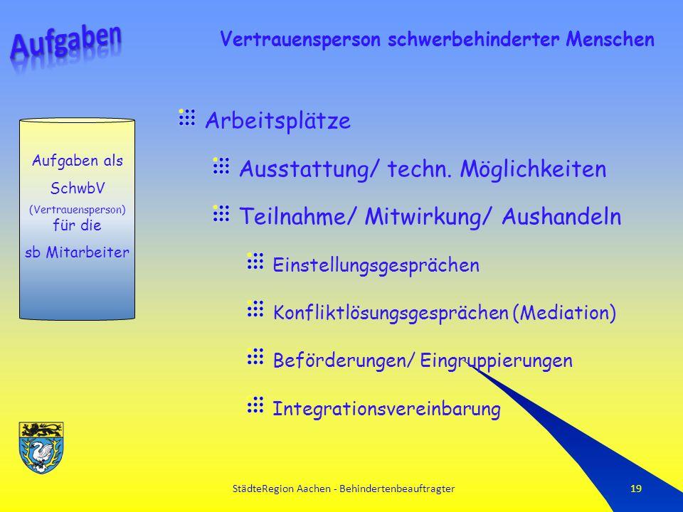 StädteRegion Aachen - Behindertenbeauftragter19 Arbeitsplätze Ausstattung/ techn.