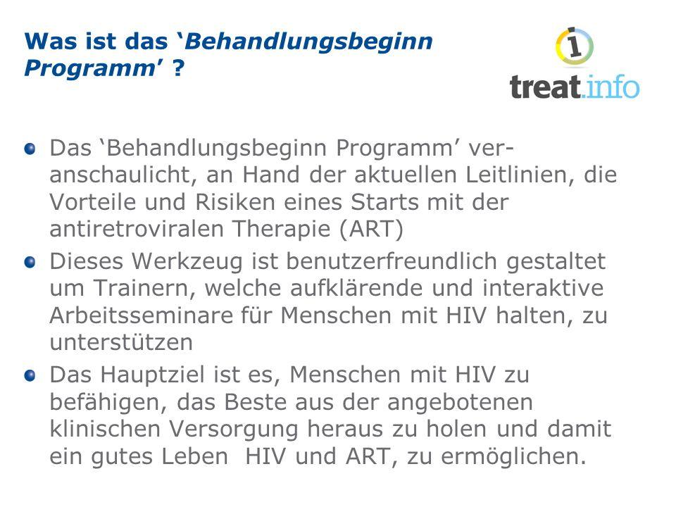 Was ist das 'Behandlungsbeginn Programm' .